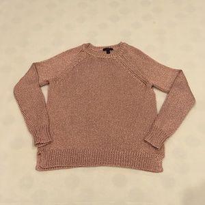 J. Crew rose gold metallic sweater